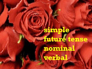 simple future tense verbal nominal